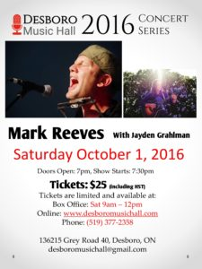 Mark Reeves Poster
