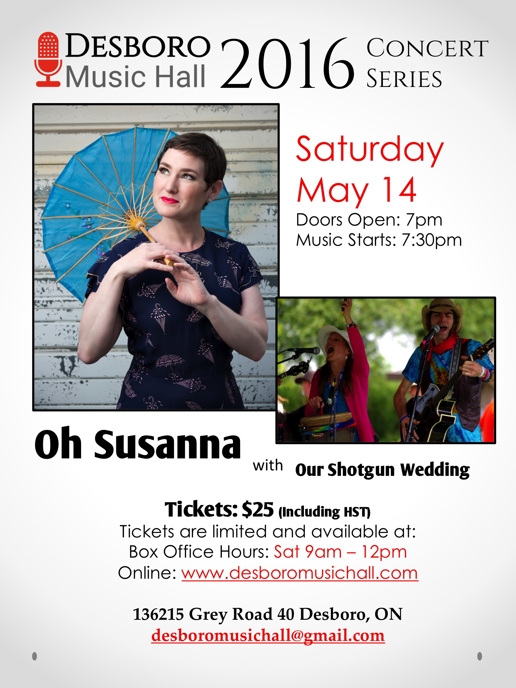 folk desboro music hall oh susanna and our shotgun wedding